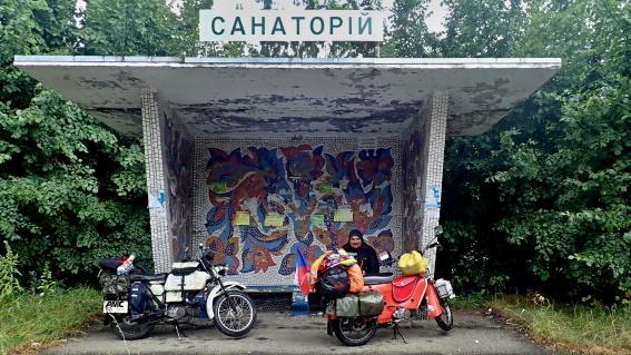 S Jawou na cestách Na Pionýrech do Černobylu, Jawa, na Jawách, Černobyl, Ukrajina, dobrodruzi, Michal Franc